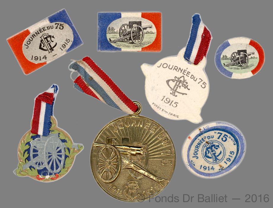 Journée du 75 — 1915 Colifichets patriotiques