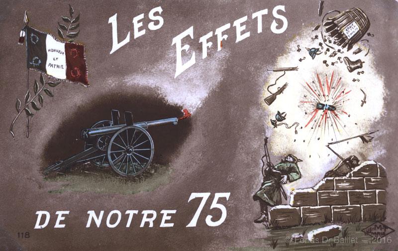 """""""Les effets de notre 75"""" s.d. vers 1915"""